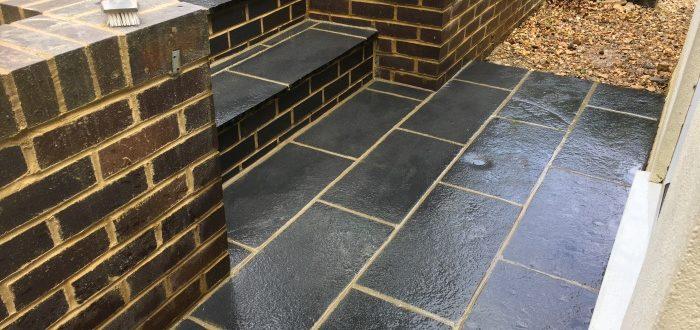 Rebuilt steps Welwyn
